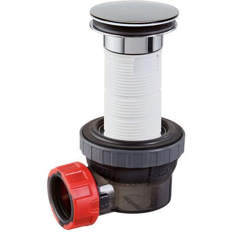 Bonde et siphon de lavabo ultra compact - Nano 6.7 pour lavabo bonde D.32 mm Quick-Clac bonde 100 mm - Wirquin Pro - 30721244