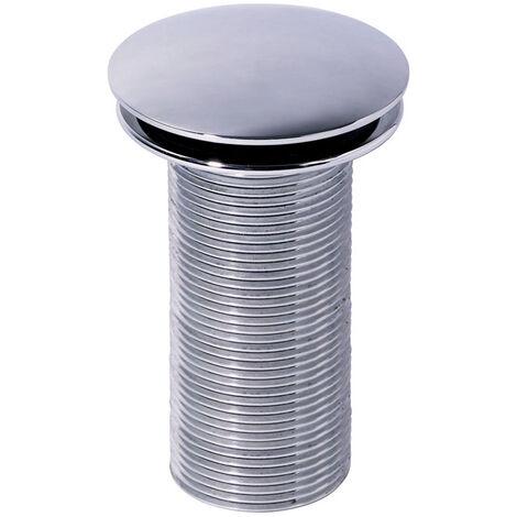 Bonde de lavabo Quick-clac en laiton chromé sans trop-plein - Bonde H.100 mm - Wirquin Pro - 30720509