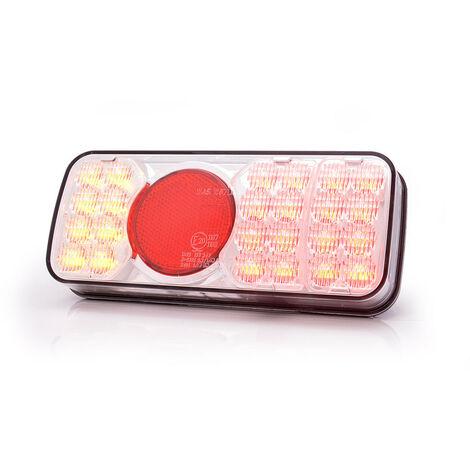 Feu arrière réversible à LED sans éclaireur de plaque 4 fonctions pour remorque