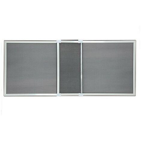 Moustiquaire Cadre Extensible pour Fenêtre PRETE A ETRE UTILISEE - Ossature blanche, Toile Grise