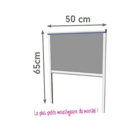 Moustiquaire Enroulable Verticale Alu H65 cm x L50 cm Blanc Moustikit Confort - Blanc