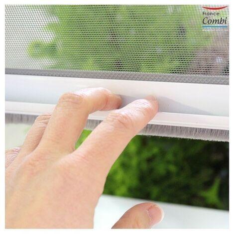 Moustiquaire enroulable Verticale Alu H160 cm x L180 cm Gris Confort - Gris