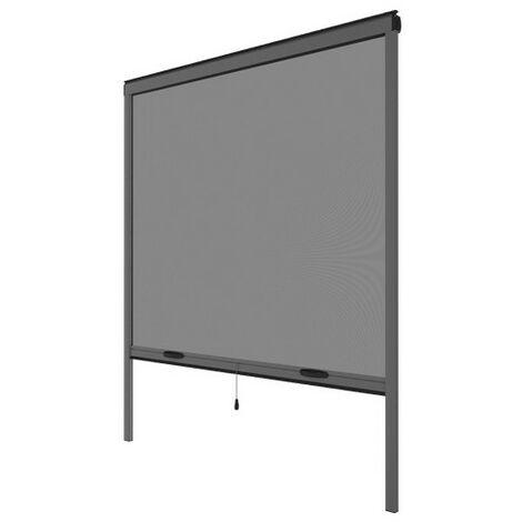 Moustiquaire enroulable verticale grise H145 cm x L130 cm - Gris