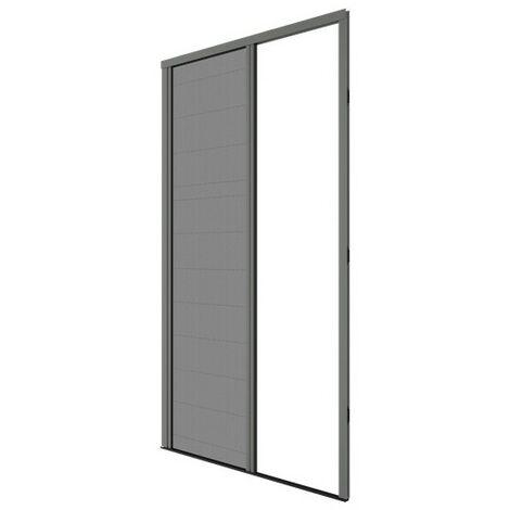 Moustiquaire plissée pour porte et porte-fenêtre H230 cm x L140 cm coloris gris - Gris