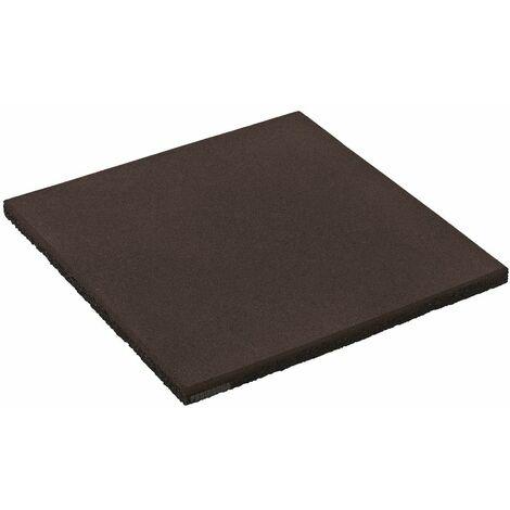 WICKEY Dalle en caoutchouc 50x50x2,5 cm noir pour aire de jeux, portique balançoire & cabane enfant