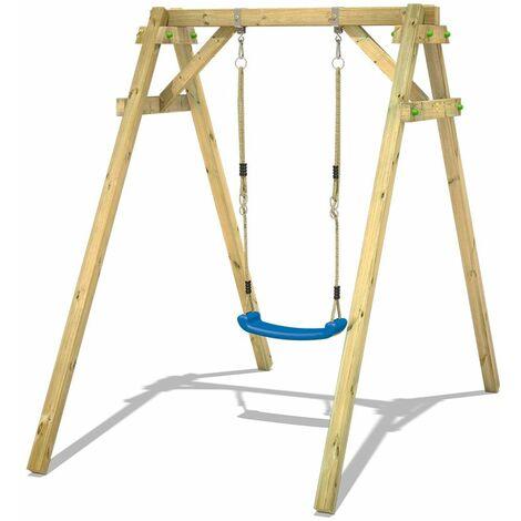 WICKEY Portique balançoire Aire de jeux Smart One Portique bois pour enfants