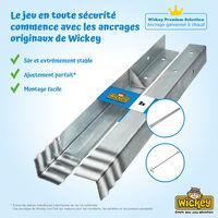WICKEY Ancrage au sol ancrage poteau SolidLock - set de 2 ancrages pour aire de jeux & portique balançoire, ancrages en profilé pour cabane enfant & palissade