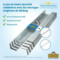 WICKEY Ancrage au sol ancrage poteau SolidLock - set de 8 ancrages pour aire de jeux & portique balançoire, ancrages en profilé pour cabane enfant & palissade