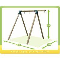 WICKEY Portique balançoire Aire de jeux Moonwalker Portique bois pour enfants