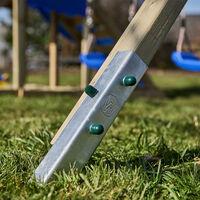 WICKEY Ancrage au sol ancrage poteau SolidLock - set de 20 ancrages pour aire de jeux & portique balançoire, ancrages en profilé pour cabane enfant & palissade