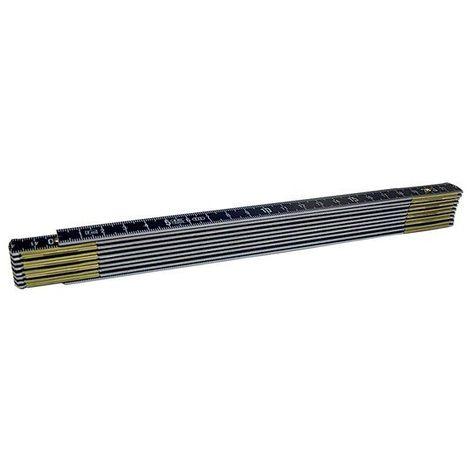 Mètre Pliant Ineffaçable En Aluminium Noir - 1 m