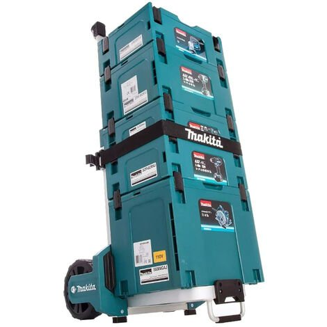Makita STACK1 Stackable Case 4 Piece Set With MakPac Trolley