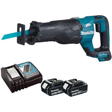 Makita DJR187 18v Brushless Reciprocating Sabre Saw with 2 x 3.0Ah Batteries & Charger