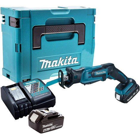 Makita DJR183Z Reciprocating Saw with 2 x 4.0Ah Battery & Charger in Case:18V