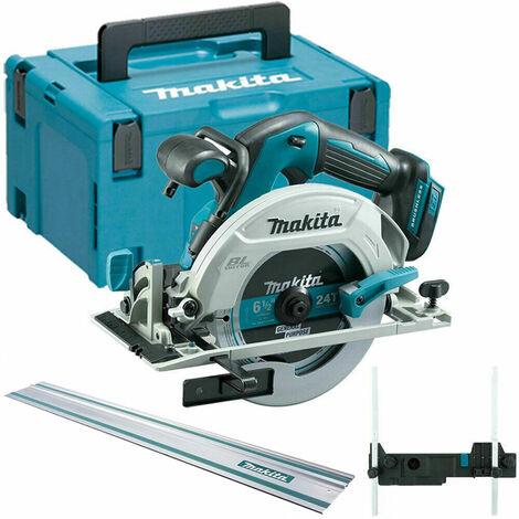 Makita DHS680Z 18V Brushless Circular Saw + MakPac + Rail + Adapter