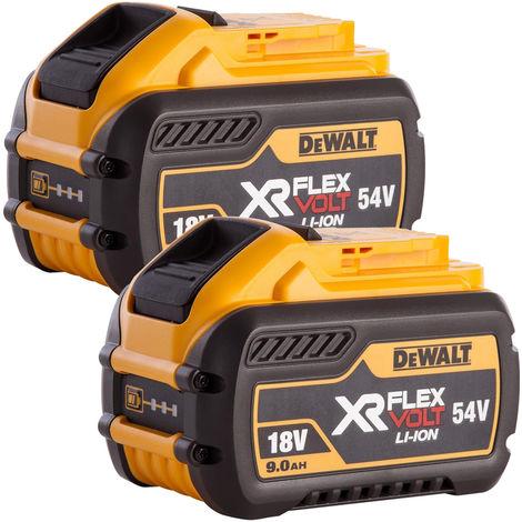 Dewalt DCB547 18V/54V 9.0Ah Li-Ion FlexVolt XR Slide Battery Twin Pack