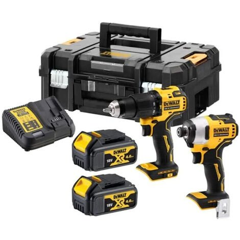 Dewalt DCK2062M2T 18V XR Brushless 2 x 4.0Ah Li-Ion Compact Twin Pack:18V