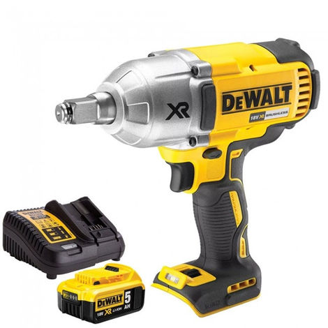 DeWalt DCF899HN 18V Brushless Impact Wrench 1 x 5Ah Battery & Charger:18V