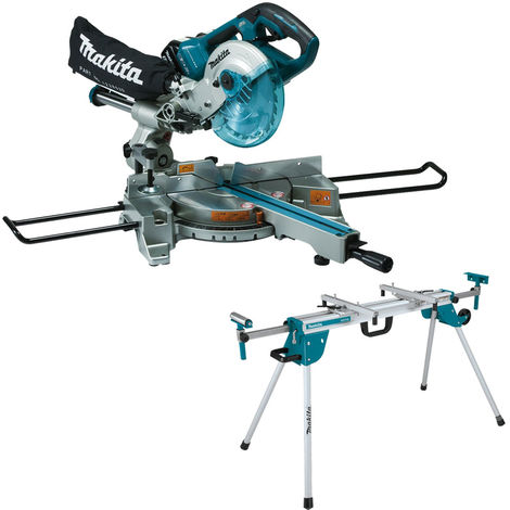 Makita DLS714NZ 36V LXT Brushless 190mm Slide Compound Mitre Saw with Leg Stand