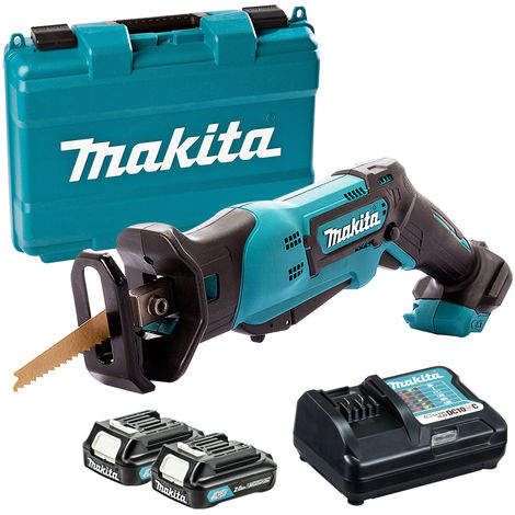Makita JR105DWAE 10.8V CXT Reciprocating Saw with 2 x 2.0Ah Batteries & Charger In Case:10.8V