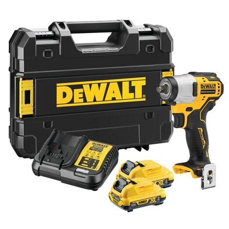 Dewalt DCF902D2-GB 12V XR Brushless 3/8in Sub-Compact Impact Wrench With 2 x 2.0Ah Batteries Charger:12V