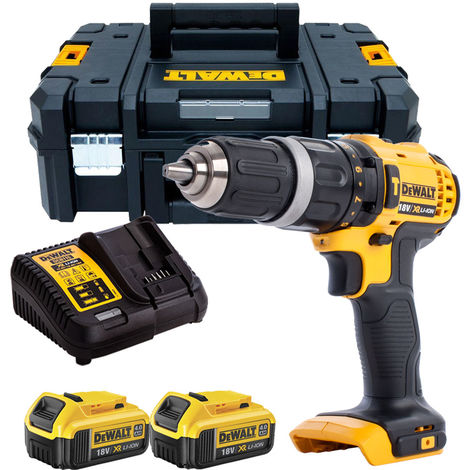 DeWalt DCD785N 18V 2-Speed Combi Drill with 2 x 4.0Ah Batteries & Charger in TSTAK