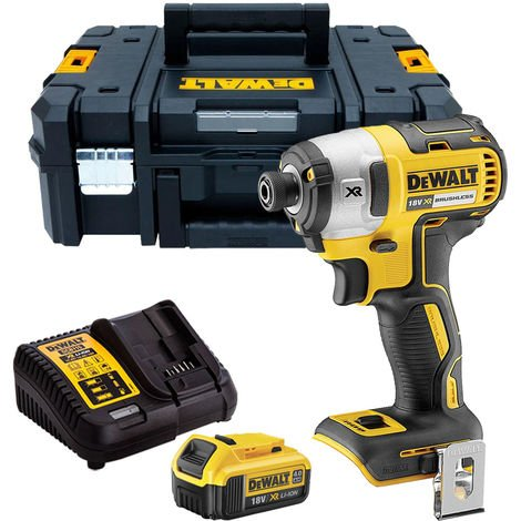 Dewalt DCF887N 18V Brushless Impact Driver with 1 x 4.0Ah Battery & Charger in TSTAK