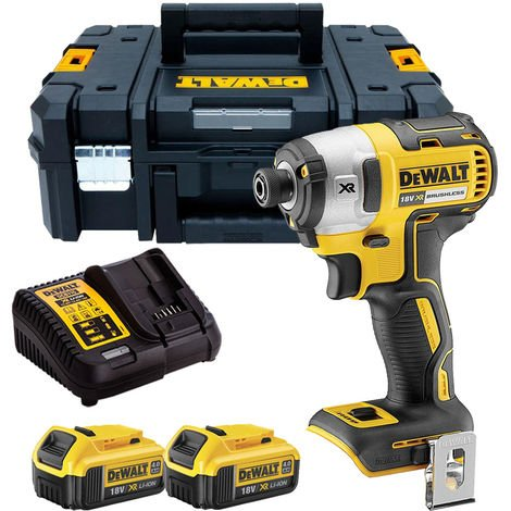 Dewalt DCF887N 18V Brushless Impact Driver with 2 x 4.0Ah Batteries & Charger in TSTAK