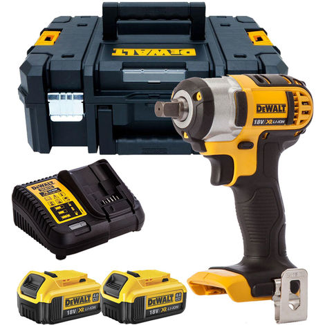 Dewalt DCF880M2 18V Impact Wrench with 2 x 4.0Ah Batteries & Charger in TSTAK