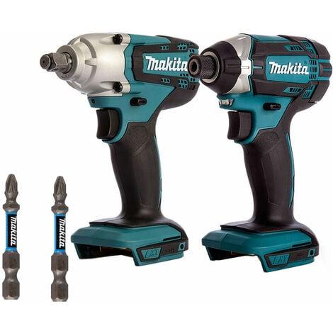 Makita 2 Piece 18V LXT Impact Driver & Impact Wrench with E-03305 Twin Impact Bit