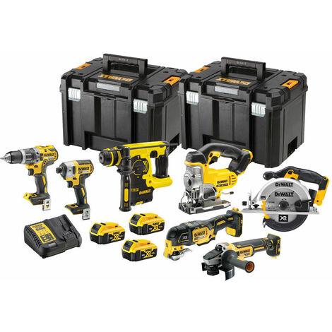 Dewalt DCK755PTX XR Li-Ion 18V 7 Piece Kit 3 x 5.0Ah Batteries:18V