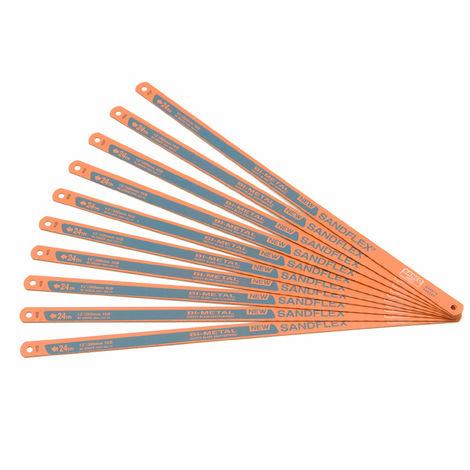 Bahco BAH39062410P 3906 Sandflex Bi-Metal Hacksaw Blades 12in x 24tpi Pack of 10