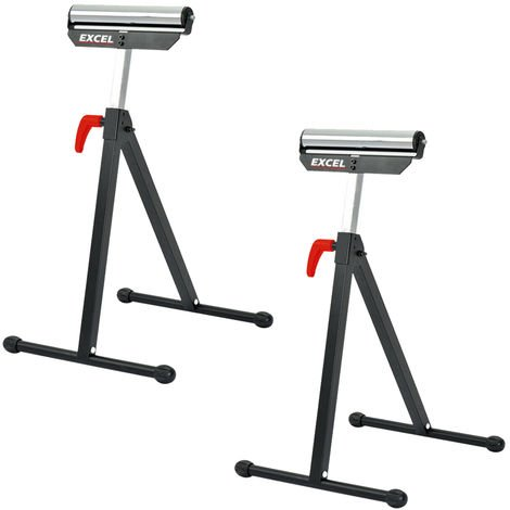 Excel Roller Stand Heavy-duty with Adjustable Height Support Twin Pack