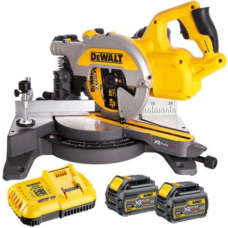 Dewalt DCS777T2 54V Flexvolt 216mm Miter Saw with 2 x 6.0Ah Batteries & Charger