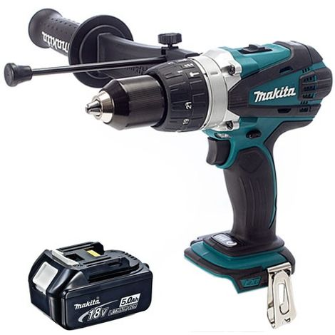 Makita DHP458Z 18v LXT Compact Combi Drill With 1 x 5.0Ah Battery