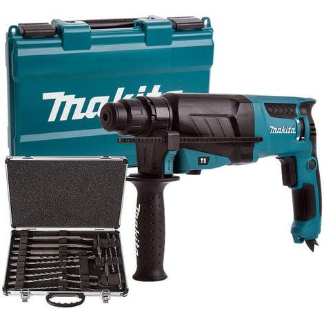 Makita HR2630 110V Hammer Drill With D-21200 17 Piece Drill Bit Set