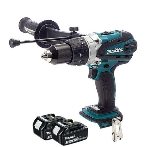 Makita DHP458Z 18V Li-ion Combi Drill Body With 2 x 3.0Ah Batteries