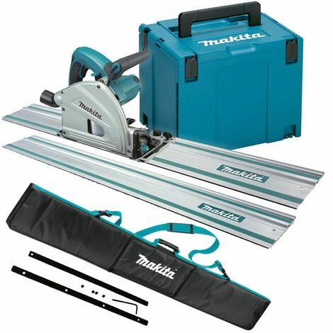 Makita SP6000J1 240V 165mm Plunge Saw with Rails, Connector Bar & Bag