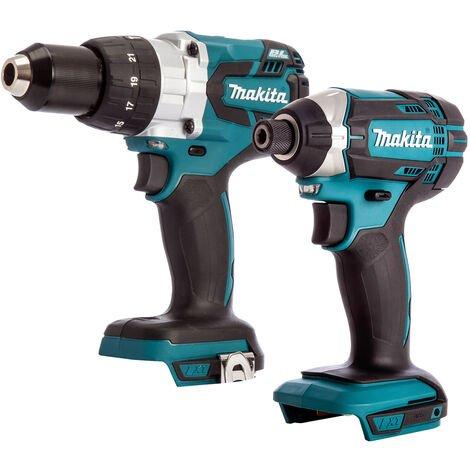 Makita 2 Piece 18V LXT Impact Driver & Brushless Combi Drill Body Only