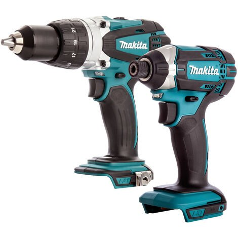 Makita 2 Piece 18V LXT Impact Driver & Combi Hammer Drill Body Only