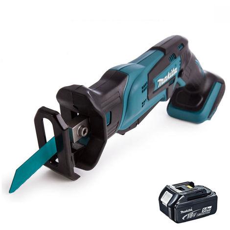 Makita DJR185Z 18V Reciprocating Saw with 1 x 5.0Ah Battery T4TKIT-382:18V