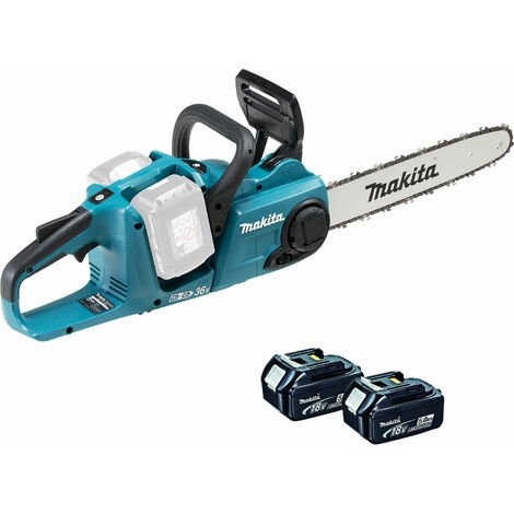 Makita DUC353Z 18v Twin 36v Brushless Chainsaw With 2 x 5Ah Batteries