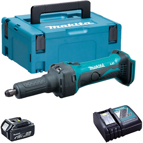 Makita DGD800Z 18V LXT Die Grinder with 1 x 5.0Ah Battery & Charger in Case:18V