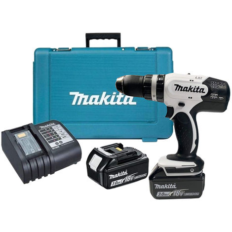 Makita DHP453SFEW Combi Drill 18V LXT With 2 x 3.0Ah Batteries Charger:18V