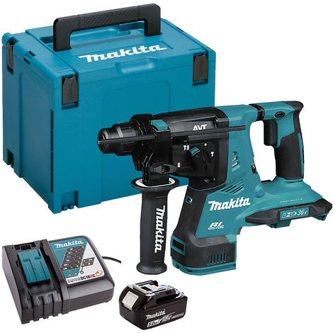 Makita DHR280ZJ 36V Brushless SDS+ Rotary Hammer Drill with 1 x 5.0Ah Battery & Charger in Case:18V