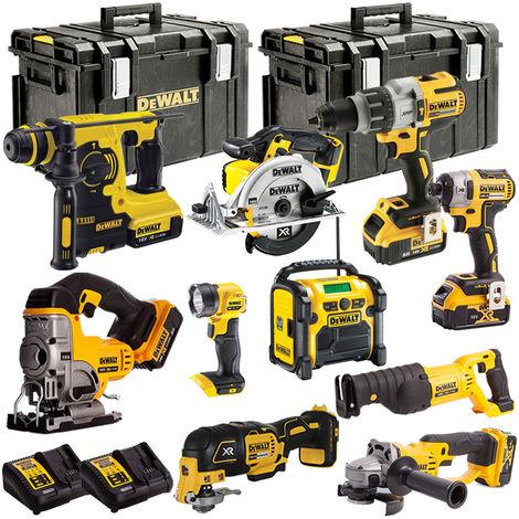 DEWALT 18V 10 Piece Power Tools Kit LI-ON with 5 x 4.0Ah Batteries T4T18VKIT12