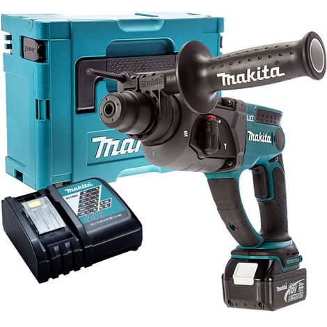 Makita DHR202Z 18V SDS+ Rotary Hammer Drill with 1 x 5.0Ah Battery & Charger in Case:18V