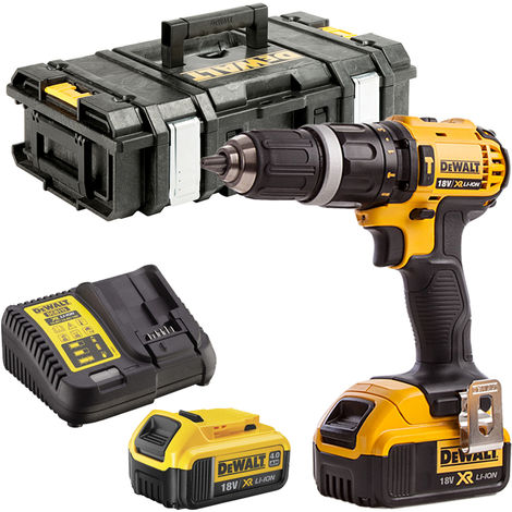 DeWalt DCD785N 18V Combi Drill with 2 x 4.0Ah Batteries Charger & Tool Box