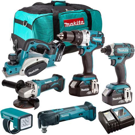 Makita 18V 6 Piece Cordless Power Tool Kit with 3 x 3.0ah Batteries T4TKIT-232:18V