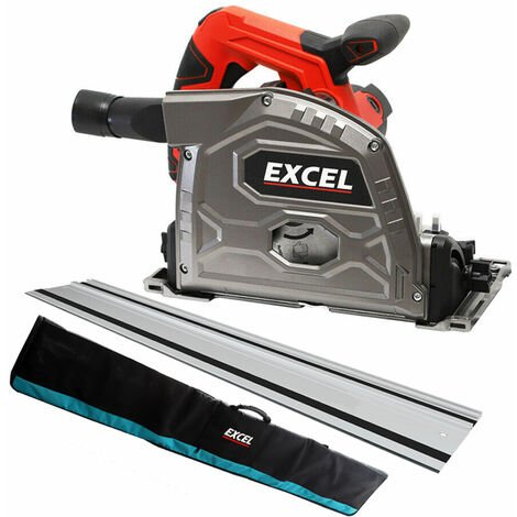 Excel 165mm Plunge Saw 240V with Aluminium Guide Rail 1.5m & Bag